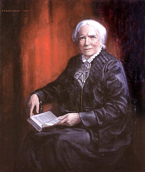Elizabeth Blackwell portretas, autorius J.S.Kozlowskis