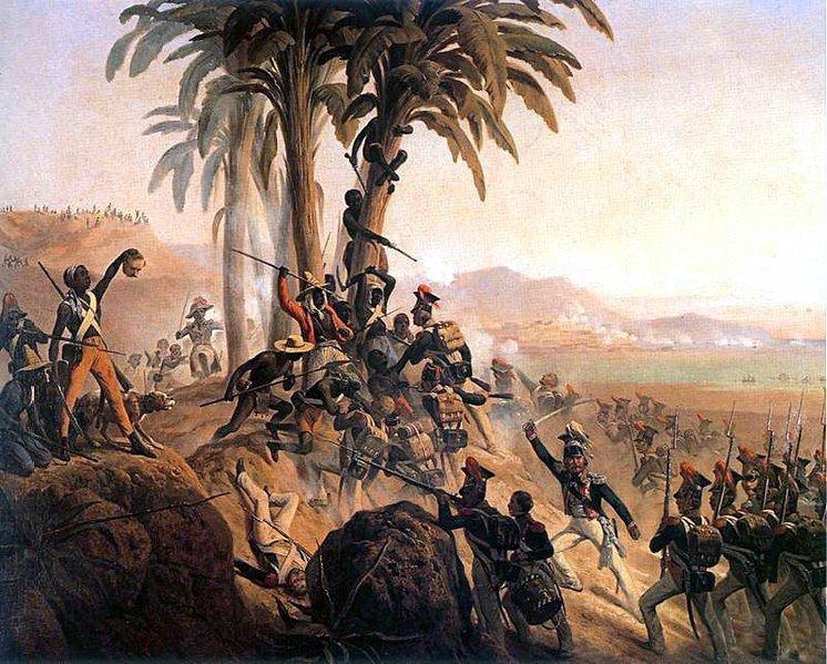 """January Suchodolskio paveikslas """"Santo Domingo"""" mūšis, kuriame vaizduojami lenkų kariai"""