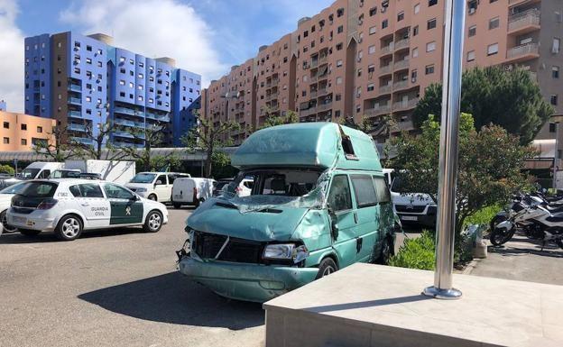 Į avariją patekęs lietuvių automobilis