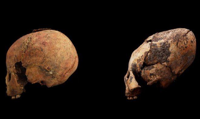 Kinijoje rastos neįprastos kaukolės, kurių amžius 12000 metų.