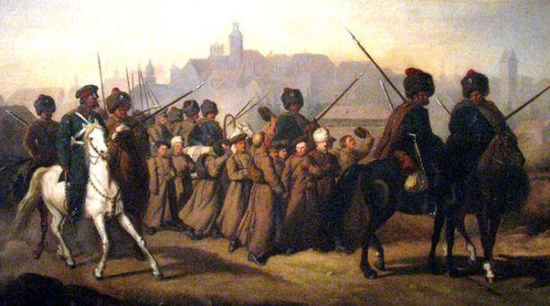 1863 - 1864 metų sukilimas. Tinklalapio vdu.lt iliustracija