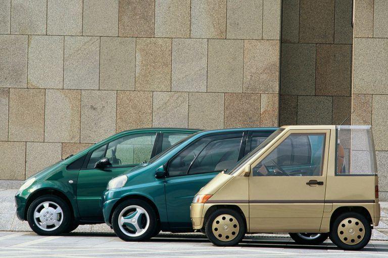 Mercedes-Benz NAFA taip niekada ir nebuvo gaminamas, tačiau jo kūrimo metu išmoktos pamokos buvo panaudotos kuriant A-Class ir Smart FortTwo modelius. (Daimler nuotrauka).