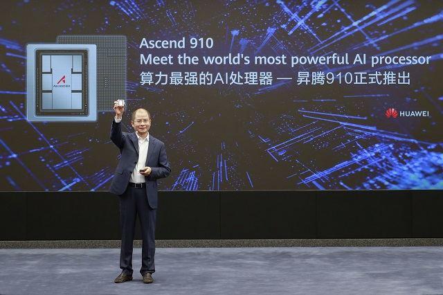 """""""Huawei"""" pristatė """"Ascend 910"""" – galingiausią dirbtinio intelekto procesorių, kartu su """"MindSpore"""" – visapusiška dirbtinio intelekto skaičiavimo sistema."""