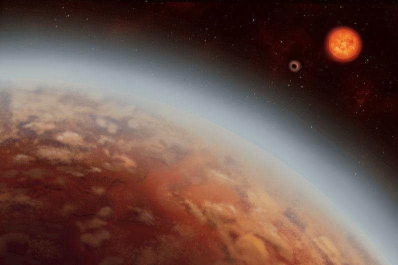 Egzoplanetos K2-18 b atmosferoje yra bent šiek tiek vandens garų