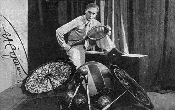 Vienas garsiausiųjų tarpukario Lietuvos žonglierių Ričardas Čipurna