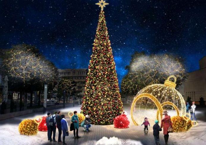 Kalėdinė eglutė Alytuje