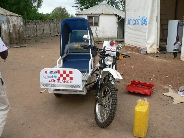 Greitosios pagalbos motociklas Sudane