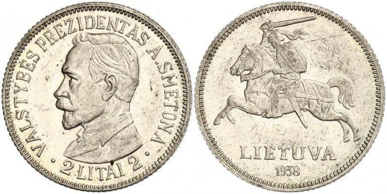 2 litų moneta su Antano Smetonos atvaizdu