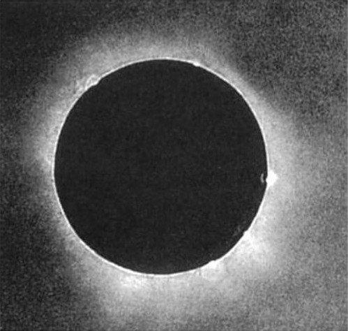 1851 07 28 J.J.H.Berkowskio dagerotipe užfiksuotas Saulės užtemimas