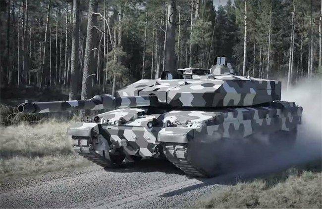"Tankas ""Leopard 2"" su naujuoju pabūklu"