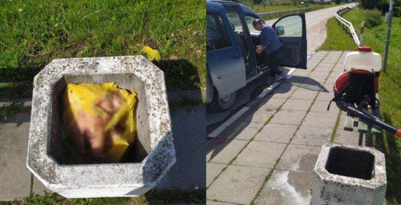 Mazūriškėse, Klaipėdos rajone, šiukšlinėse gyventojai pamatė kiaulių galvas.