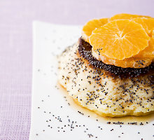 Desertas su aguonomis ir mandarinais