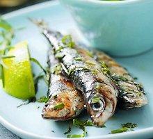 Keptos sardinės su jogurto padažu