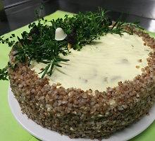 """Grikių tortas """"Dzūkorius"""" su grybais"""