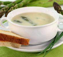 Šalta trinta smidrų ir žiedinių kopūstų sriuba