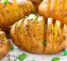 Bulvės su sūriu ir rozmarinu garnyrui