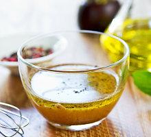 Pikantiškas garstyčių-acto padažas salotoms