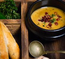 Čederio sūrio ir alaus sriuba