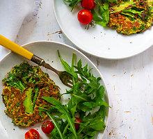 Vegetariški žali brokolių kepsneliai