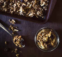 Spragintų grikių granola