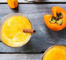 Tirštas ir kvapnus persimonų kokteilis
