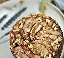 Karamelinis obuolių pyragas su graikiniais riešutais be glitimo