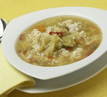 Šviežių kopūstų sriuba su ryžiais