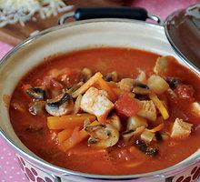 Pievagrybių sriuba su kalakutiena