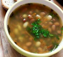 Pupelių sriuba su kruopomis