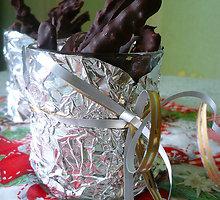 Apelsinų žievelės šokolade