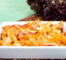 Itališkas makaronų ir sūrio apkepas