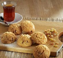 Avižinių dribsnių sausainiai su varške