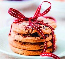 Apelsinų ir spanguolių sausainiai