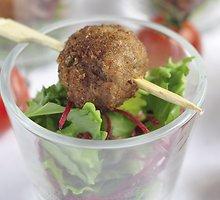 Maltos mėsos kamuoliukai su paprikomis