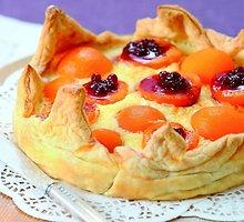 Varškės pyragas su abrikosais