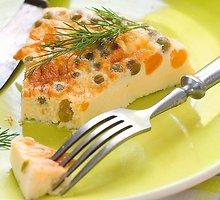 Plikytas omletas su daržovėmis