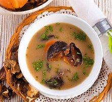 Šviežių ir džiovintų baravykų sriuba