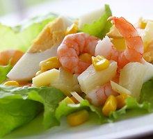 Gaivios krevečių salotos