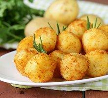 Bulvių ir varškės spurgos