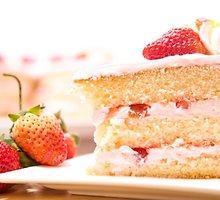 Zefyrų tortas su braškėmis