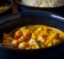 Žiedinių kopūstų (kalafiorų sriuba) su indiškais prieskoniais