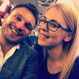 Asmeninio albumo nuotr./Vaidas Baumila ir Monika Linkytė pakeliui į Amsterdamą