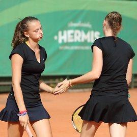 Vilniaus teniso akademijos nuotr./Paulina Bakaitė ir Gerda Zykutė