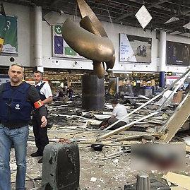 """""""Twitter"""" nuotr./Sprogimas Briuselio oro uoste"""