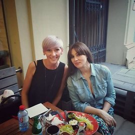 Asmeninio albumo nuotr./ Žaneta Intaitė-Žilinskienė ir Monica Bellucci