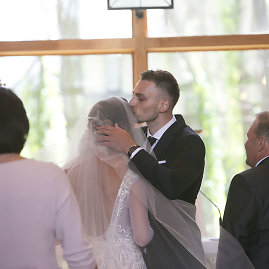 Aliaus Koroliovo/15min nuotr./Arno Labucko ir Giedrės Paugaitės vestuvių akimirka