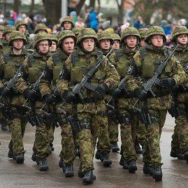 """AFP/""""Scanpix"""" nuotr./Estijos kariai Narvoje"""