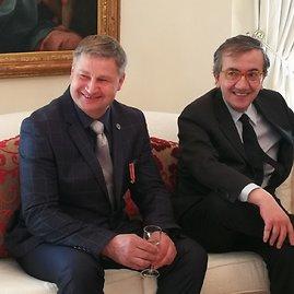 Žilvino Pekarsko / 15min nuotr./Apdovanojimas Italijos ambasadoje Vilniuje