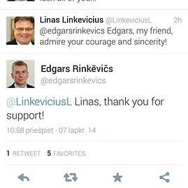 """Latvijos užsienio reikalų ministras Edgaras Rinkevičius tinkle """"Twitter"""" pareiškė, kad yra gėjus."""