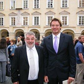 Asmeninio albumo nuotr./Paulius Skomantas ir profesorius Alfredas Bumblauskas